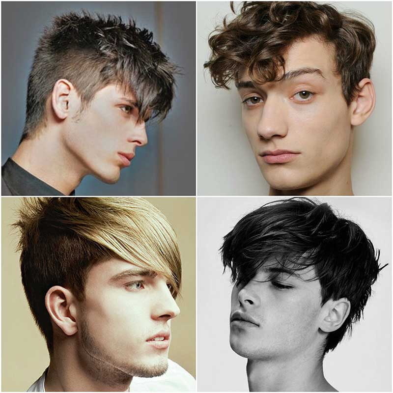Corte de pelo con flequillo largo