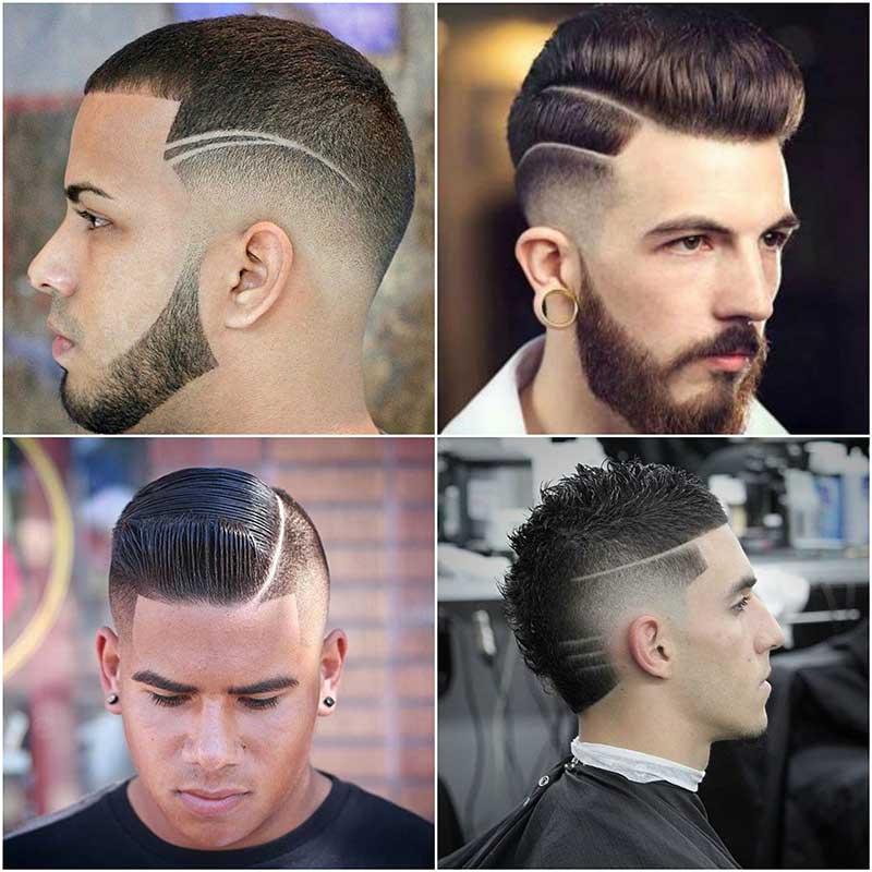 Cortes de pelo para hombres con rayas