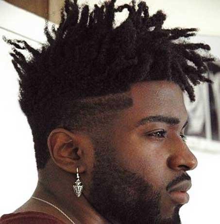 Cabello Afro Corte de pelo medio