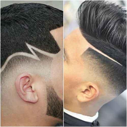 cortes de cabello con rayas a los lados