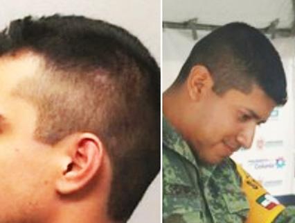 Corte militar estilo mexicano