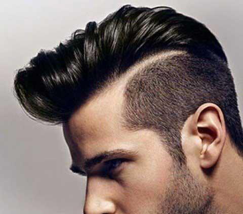 Peinado tupe de lado