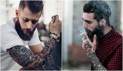 Estilo corte lumberjack hombres con tatuajes