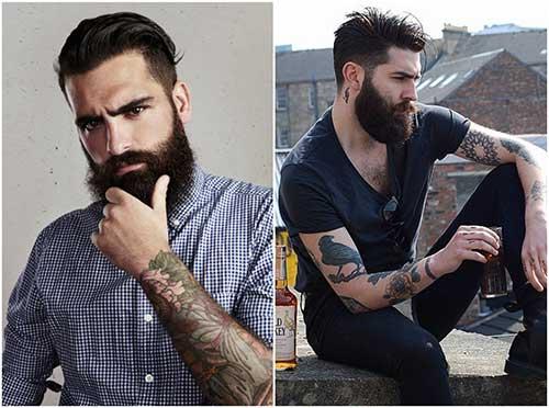 Tendencia de barbas largas